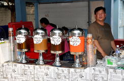 Bangkok, Thailand: Special Iced Teas Royalty Free Stock Photography