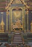 Ramayana Hindu Epic Mural. Bangkok, Thailand - 21st November, 2017: Wall painting at the grand palace depicting the Ramayana Hindu epic story. It covers several Royalty Free Stock Photography