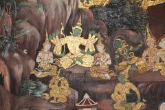Ramayana Hindu Epic Mural Stock Photos