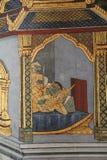Ramayana Hindu Epic Mural. Bangkok, Thailand - 21st November, 2017: Wall painting at the grand palace depicting the Ramayana Hindu epic story. It covers several Royalty Free Stock Image