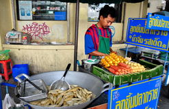 Bangkok, Thailand: Street Vendor Cooking Royalty Free Stock Image
