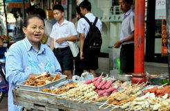 Bangkok, Thailand: Street Vendor Selling Food Royalty Free Stock Photo