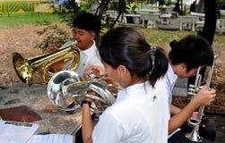 Bangkok, Thailand: Student Musicians Rehearsing Stock Image