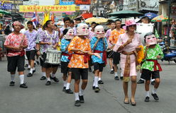 Bangkok, Thailand: Student Parade on Khao San Rd Stock Photo
