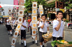 Bangkok, Thailand: Student Parade on Khao San Rd Stock Photos