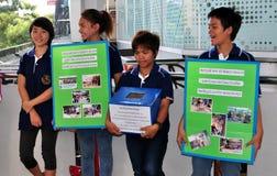 Bangkok, Thailand: Students Seeking Charity Donations stock photo