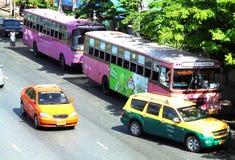 Bangkok-Thailand: Taxi-Meter/Fahrerhaus in Bangkok Wahl für Sie Stockbilder