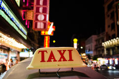 Bangkok, Thailand : Taxi sign Royalty Free Stock Photo