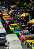 Bangkok, Thailand:  Taxis at Chatuchak Market Royalty Free Stock Image