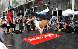 Bangkok, Thailand: Teens Breakdancing Royalty Free Stock Photo