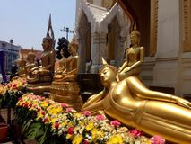 Bangkok. Thailand Temple Buddhism Peacful Stock Photos