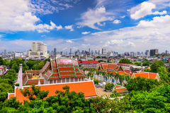 Bangkok, Thailand Temples and Cityscape Royalty Free Stock Photos