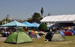 Bangkok,Thailand: Tents in Lumphini Park Stock Photos