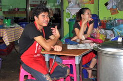 Bangkok, Thailand: Thai Restaurant Workers Royalty Free Stock Images