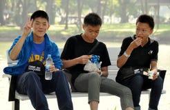 Bangkok, Thailand: Thai Teenagers in Lumphini Park Stock Photos