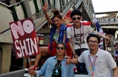 Bangkok, Thailand: Thai Youths Demonstrating Royalty Free Stock Photos
