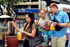 Bangkok, Thailand: Thais at Erawan Shrine Stock Image