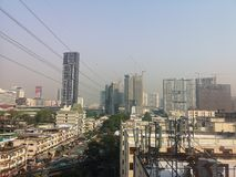 Bangkok Thailand The​ weather is​ not​ ​bright toxic smoke this morning stock photo
