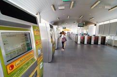Bangkok, Thailand: ticket machines  BRT bus Royalty Free Stock Photo