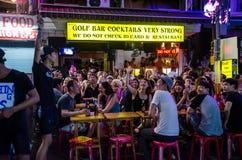Bangkok, Thailand: Toeristische attractie bij nacht Stock Fotografie