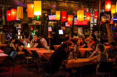Bangkok, Thailand : Tourist attraction at night Stock Images