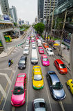 Bangkok, Thailand: Traffic Jam on Naradhiwas Rajanagarindha Road Stock Photos