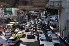 Bangkok, Thailand: Traffic Jam on Sukhamvit Road Royalty Free Stock Images