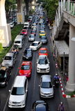 Bangkok, Thailand: Traffic Jam on Sukhamvit Road Stock Photos