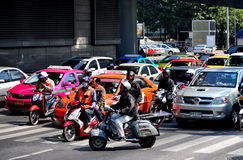 Bangkok, Thailand: Traffic on Rama V Road Royalty Free Stock Photo