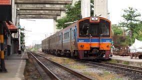Bangkok, Thailand-Train arrive at Railway Station. In bangkok stock video