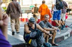 Bangkok, Thailand : Travelers waiting Royalty Free Stock Images