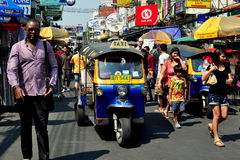 Bangkok, Thailand: Tuk-tuk on Khao San Road Royalty Free Stock Photo