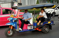 Bangkok, Thailand: Tuk-Tuk Taxi on Sukhamvit Road Stock Images