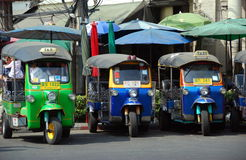 Bangkok, Thailand: Tuk-Tuk Taxis Stock Photography