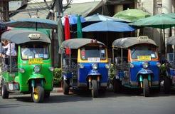 Bangkok, Thailand: Tuk-Tuk Taxis Stock Photography