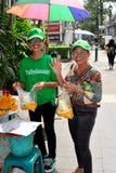 Bangkok, Thailand: Two Women Buying Flowers Stock Photos