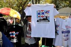 Bangkok, Thailand: Vendor Selling Tee-Shirts Stock Image