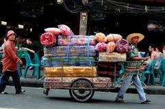 Bangkok, Thailand: Vendors Selling Mattresses Stock Image