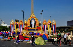 Bangkok, Thailand: Victory Monument During Protests Stock Photos