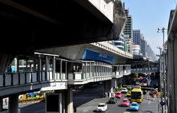 Bangkok, Thailand: View along Sukhamvit Road Royalty Free Stock Images
