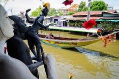Bangkok, Thailand : View of canal Stock Photos
