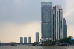 Bangkok, Thailand. View from the Chao Phraya River Royalty Free Stock Image