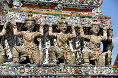 Bangkok, Thailand: Wat Arun Khong Figures Royalty Free Stock Photos