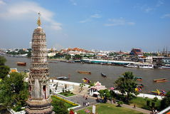 Bangkok, Thailand: Wat Arun River View Royalty Free Stock Photography