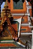 Bangkok. Thailand: Wat Hua Lamphong Roofs Royalty Free Stock Photography