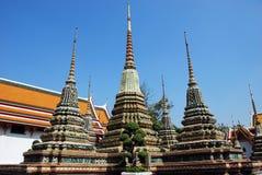 Bangkok, Thailand: Wat Pho Chedis Royalty Free Stock Photography
