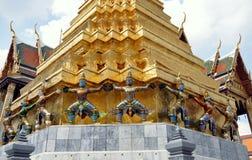 Bangkok, Thailand:Wat Phra Kaeo Khong Figures Stock Image