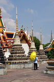 Bangkok, Thailand: Wat Po Chedis Stock Photo