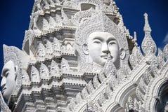 Bangkok, Thailand: Wat Rajapradit Buddha Faces Royalty Free Stock Images