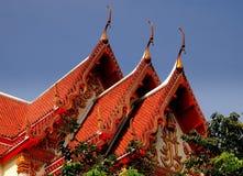 Bangkok, Thailand: Wat Woramhawiharn Roofs Royalty Free Stock Image